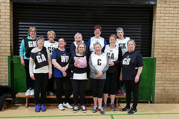 Walking netball at Coxhoe Leisure Centre