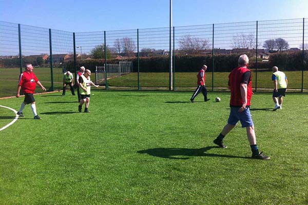 Walking football at Coxhoe Leisure Centre